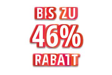 bis zu 46% Rabatt - weißer Hintergrund rote Schrift für Symbol / Schild