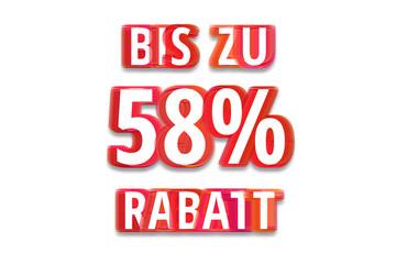 bis zu 58% Rabatt - weißer Hintergrund rote Schrift für Symbol / Schild