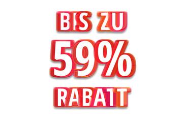 bis zu 59% Rabatt - weißer Hintergrund rote Schrift für Symbol / Schild