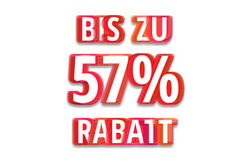 bis zu 57% Rabatt - weißer Hintergrund rote Schrift für Symbol / Schild