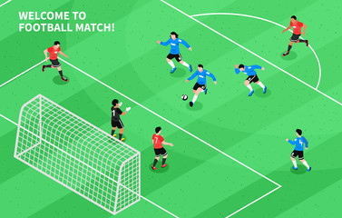 Sport Football Soccer Isometric