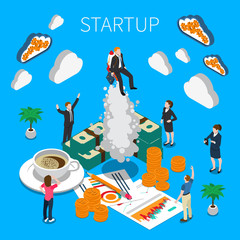 Business Startup Isometric Composition
