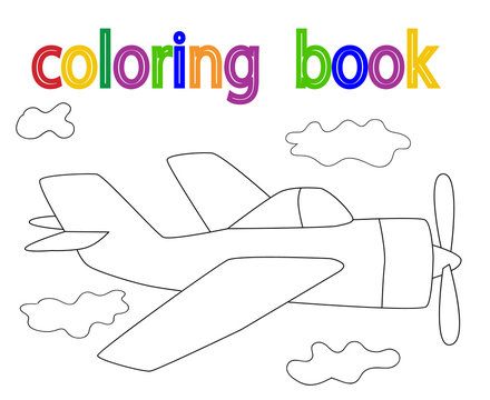 book coloring, airplane