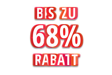 bis zu 68% Rabatt - weißer Hintergrund rote Schrift für Symbol / Schild