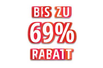 bis zu 69% Rabatt - weißer Hintergrund rote Schrift für Symbol / Schild