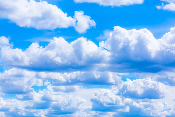 photo of cumulus clouds. Photo from Finland.