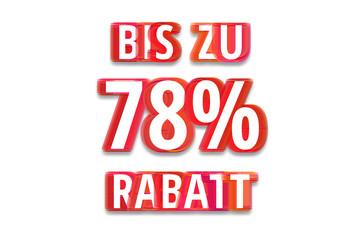 bis zu 78% Rabatt - weißer Hintergrund rote Schrift für Symbol / Schild