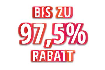 bis zu 97,5% Rabatt - weißer Hintergrund rote Schrift für Symbol / Schild