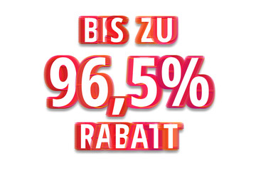 bis zu 96,5% Rabatt - weißer Hintergrund rote Schrift für Symbol / Schild