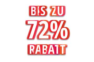 bis zu 72% Rabatt - weißer Hintergrund rote Schrift für Symbol / Schild
