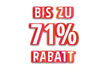 bis zu 71% Rabatt - weißer Hintergrund rote Schrift für Symbol / Schild