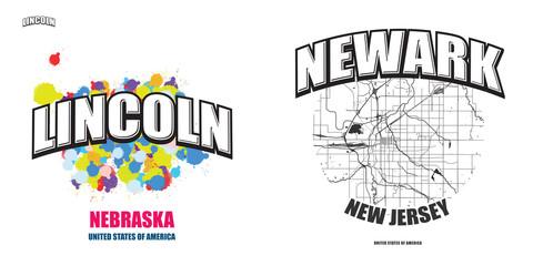 Lincoln, Nebraska, two logo artworks