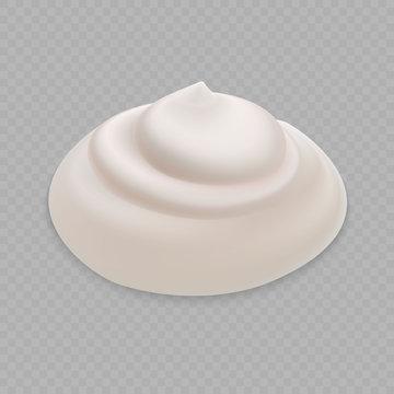 White Cream isolated