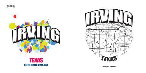Irving, Texas, two logo artworks