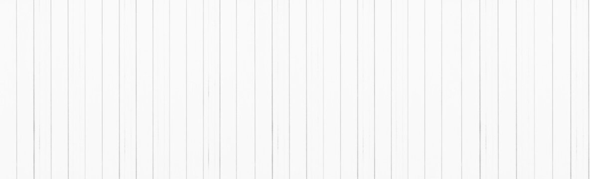 Panorama of White wood planks background