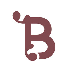 Sign of the letter B. Vector Illustration.