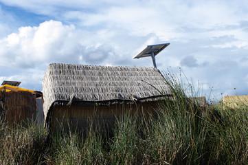 Panneau solaire sur les îles Uros