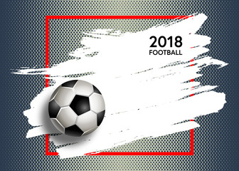Football. Vector illustration of a soccer cup. Football championship 2018. Element for design poster, banner, card, flyer