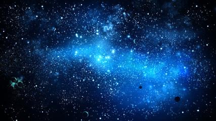 Nebula and galaxy./ Universe filled with stars.