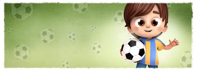 niño y futbol
