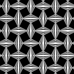 Seamless geometric pattern with a with striped diamonds and optical illusion