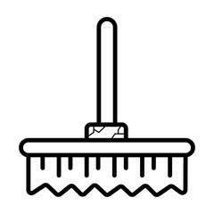 Broom icon vector