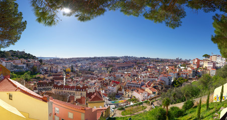 Panorama en hauteur sur la Ville de Lisbonne