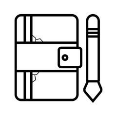 Notebook icon, vector