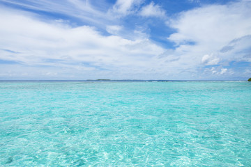モルディブ 海
