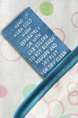 Care clothes label