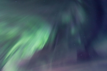 Sky brighten by dynamic aurora borealis