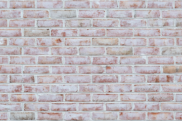 Whitewashed brick wall texture or background