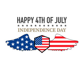 Independence day labels, vector illustration on a white background