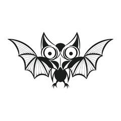 bat tattoo. Vector