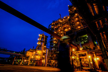 Aluminium Prints Shanghai Pipes and buildings of big factory