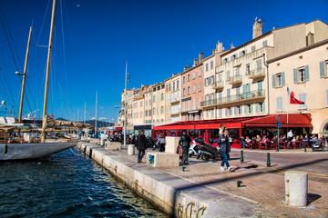 Saint-Tropez, Hafen im Winter
