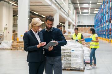 Supervisors at warehouse