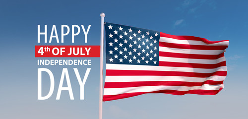 3d render, the 4th of july, independence day USA, the stars and stripes