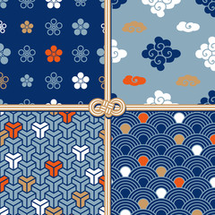 Traditional seamless patterns in oriental style