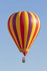 Balloon floats above California winery