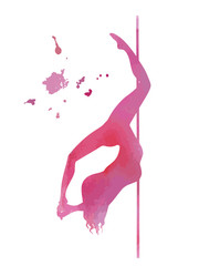 vector pole dance element cocoon pink silhouette