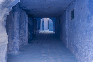 Blue tunnel in Chefchaouen