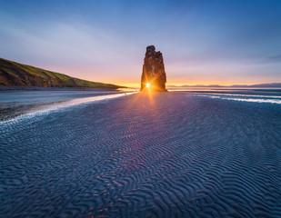 Hvitserkur rock - a tourist attraction in Iceland