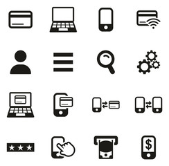 Mobile & Online Banking Icons