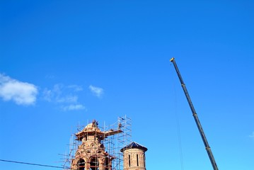 construction of an Orthodox Church of brick