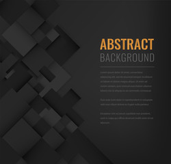 Abstract background with black squares. Business design template. Vector