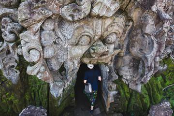 Goa Gajah Elephant Cave temple in Ubud, Bali, Indonesia.