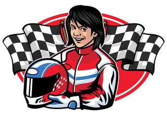 racer woman design