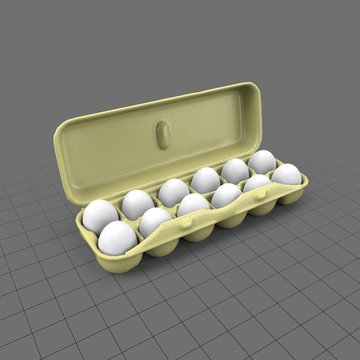 Open egg container