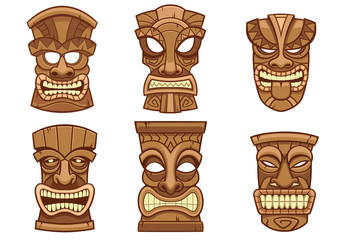 tiki mask set